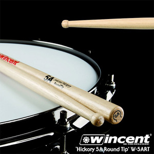 Wincent 빈센트 드럼스틱 Hickory 5A Round Tip Drum Stick (W-5ART)  뮤직메카